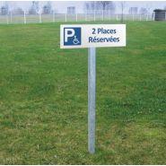 Panneau place handicapé - DIRECT SIGNALETIQUE - Dimension : H 150 x L 450 mm