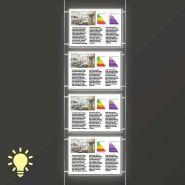 Kit 1 colonne - 4 portes affiches led - mr enseignes - a4 horizontal