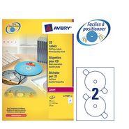 L7760-25 / 50 ETIQUETTES CD MAXI COUVRANTES BRILLANTES