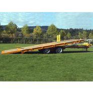 PB19G1 - Remorque plateau pour poids lourd - Fournier - 2 essieux centraux