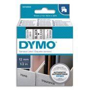 DYMO RUBAN D1 NOIR/TRANSPARENT 12MMX7M S0720500