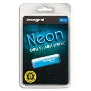 INTEGRAL CLÉ USB 2.0 NEON 16GB BLEUE INFD16GBNEONB