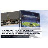 écran géant mobile sur camion et remorque