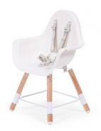 Chaise évolutive 2 en 1 pour bébé coloris blanc et bois