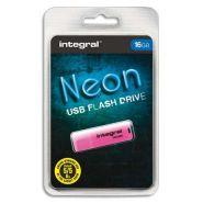 INTEGRAL CLÉ USB 2.0 NEON 16GO ROSE INFD16GBNEONPK
