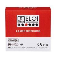Lame bistouris elibasic - boite de 100 lames standard stérile n°20 bse020
