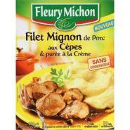 FLEURY MICHON FILET MIGNON DE PORC AUX CÈPES ET PURÉE À LA CRÈME 290 G