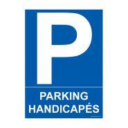 4280200 - Panneau place handicapé - HANDINORME - Dimensions : 150 mm x 210 mm