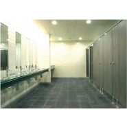 Cabine sanitaire Cabinox10 / hauteur 210 cm / épaisseur parois 13 mm
