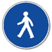 Panneau de signalisation - passage pour pietons obligatoire