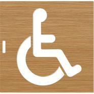 Pochoir handicapé - Toute la signalétique - épaisseur de 5mm