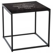 TABLE D'APPOINT FACTORY 40CM NOIR - PARIS PRIX