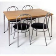 STB TABLE CAFET RECT HETRE ALU TCREC
