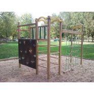 Structure jeu extérieur en bois à grimper dialo