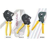 Les coupe-câbles à cliquet une main, special acier flexible