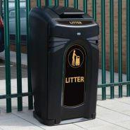 Nexus - poubelle publique - glasdon - 2 * 140 litres