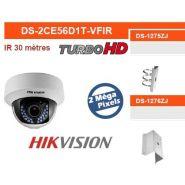 Dômes de surveillance turbo-hd ds-2ce56d1t-vfir hikvision
