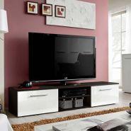 Meuble tv design bono ii 180cm blanc & wengé - paris prix