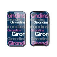 Coque iphone girondins de bordeaux bleu/ rose/ gris/ blanc