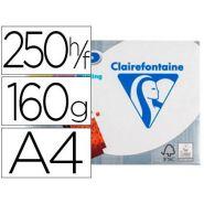 PAPIER CLAIREFONTAINE DCP MULT IFONCTIONS A4 160G/M2 SATINÉ PARFAITE OPACITÉ COLORIS BLANC PAQUET 250F