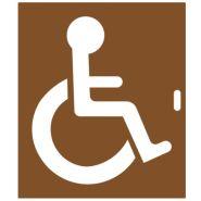 11098 - Pochoir handicapé - Virages - 250 x 300, 500 x 600 et 1000 x 1200 mm