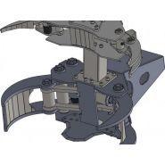 Grappin coupeur forestier TC40 ACC - Intermercato France - Ouverture 1375 mm - Diamètre 400 mm