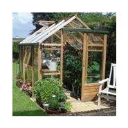 Serre classic 4.4 m² en bois et verre trempé - juliana serre de ...