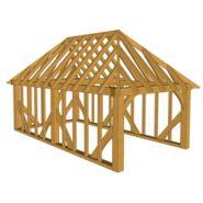 Maison à ossature en bois plain-pied a01 : 1-bay / en kit / toit multipente