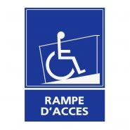 REFZ422 - Panneau handicapé rampe d'accès - ABC signalétique - Dimensions : 5 cm à 40 cm (= largeur du support)