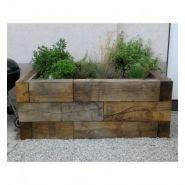 TRCH1002002600 - Traverse paysagère en chêne - AC bois - 100x200x2600mm