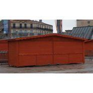 Chalet en bois pliable / 15.12 m² / modulaire / toit double pente