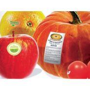 Etiquette à application directe sur les aliments secs