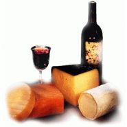 Gamme de fromages à pâte molle et vins