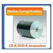 MEDIAS ENREGISTRABLES CD-R, CD-RW, DVD-R, DVD+R