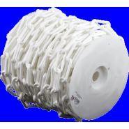 Chaîne Ø 6mm x 50m Blanc en bobine - SIGNAL - 1160125