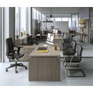 Kamos plus - Bureau d'angle - Newform ufficio - Matériels structures : mélamine et métal