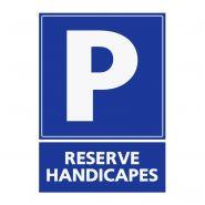 REFZ418 - Panneau parking réservé handicapés - ABC Signalétique - Dimensions : 5 cm à 40 cm (= largeur du support)