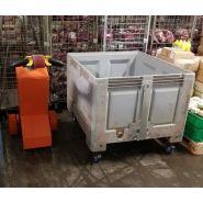 Tracteur pousseur - auptino - pour bac à glace en poissonnerie