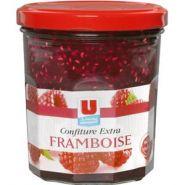 U CONFITURE DE FRAMBOISES 50% DE FRUITS 370 G