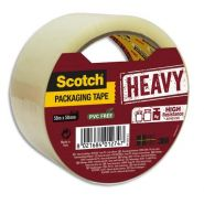 Scotch adhésif d'emballage heavy en polypropylène 57 microns - h50 mm x l50 mètres transparent bp978