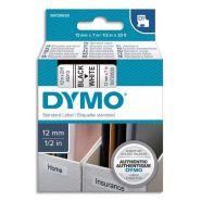 DYMO RUBAN D1 NOIR/BLANC 12MMX7M POUR 1000/1000+/2000/3500/4500/5000/5514