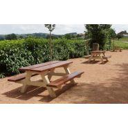 Table de pique-nique taba200 / béton / 200 x 150 cm