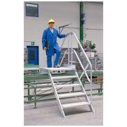Passerelle - Gentner et fils - Inclinée à 45° largeur utile 1000 mm avec 2 escaliers