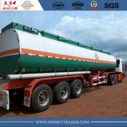 Remorques citerne - Xiamen Sunsky trailer Co.,Ltd - Semi-Remorque Citerne À Essence En Acier