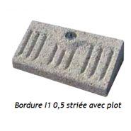 BORDURES DE VOIRIE - I1 0,5 STRIÉE AVEC PLOT CELTYS
