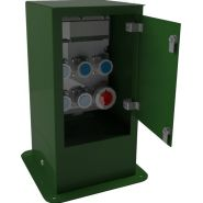 Pitchoune - borne de distribution d'énergie fixe - ipbe - capacité de 6 prises