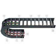 L80 - chaînes portes-câbles - kabelschlepp france - hauteur intérieure 80 mm