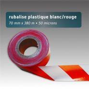 Ruban de chantier - Rubalise - recyclé couleur uni - 70mm*380m