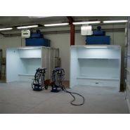 Cabine de peinture poudre (ventilation horizontale - cabine ouverte)