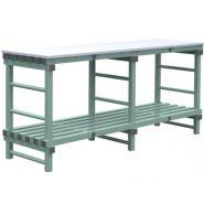 TABLES DE DÉCOUPE 160-180-200 X 60 CM, 2 NIVEAUX, DESSUS PE BLANC 2 CM